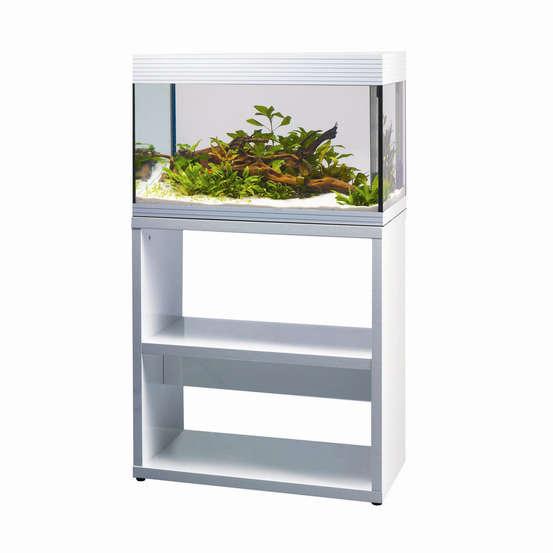 Meuble D Aquarium Pure Stand L Blanc Truffaut
