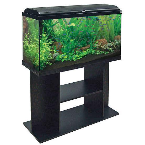 Meuble D Aquarium Aquadisio 100 Noir Truffaut