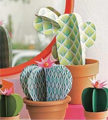 Préparation cactus en papier