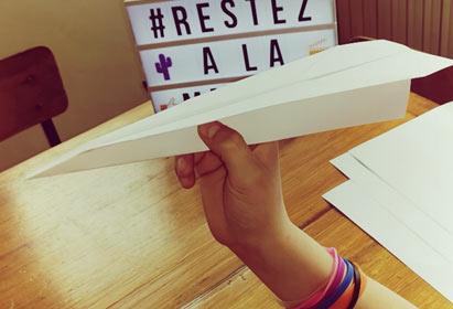 DIY : Avion en papier et cible