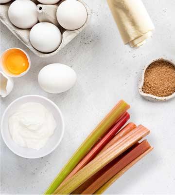 Tarte Rhubarbe ingrédients