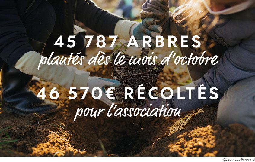 45 000 arbres plantés et 46 000 euros récoltés