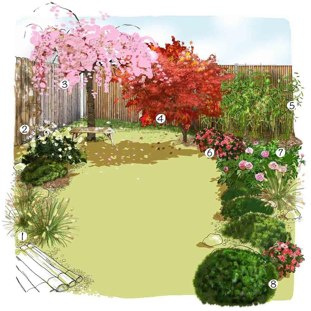 Plantes Pour Jardin Contemporain 150 idées d'aménagement de jardin | truffaut