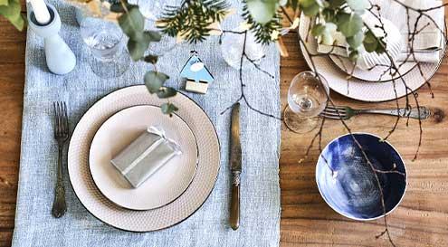 Décorations table de Noël