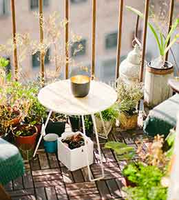 balcon vis a vis