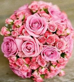 bouquet fleurs rond