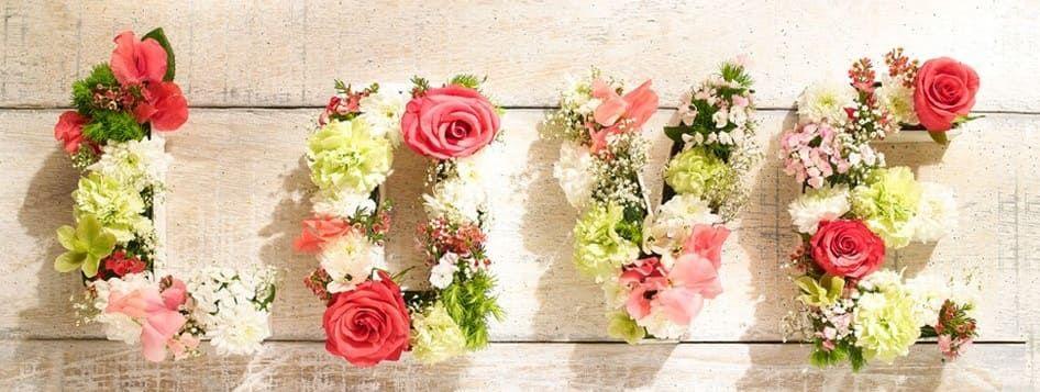 lettres en fleurs
