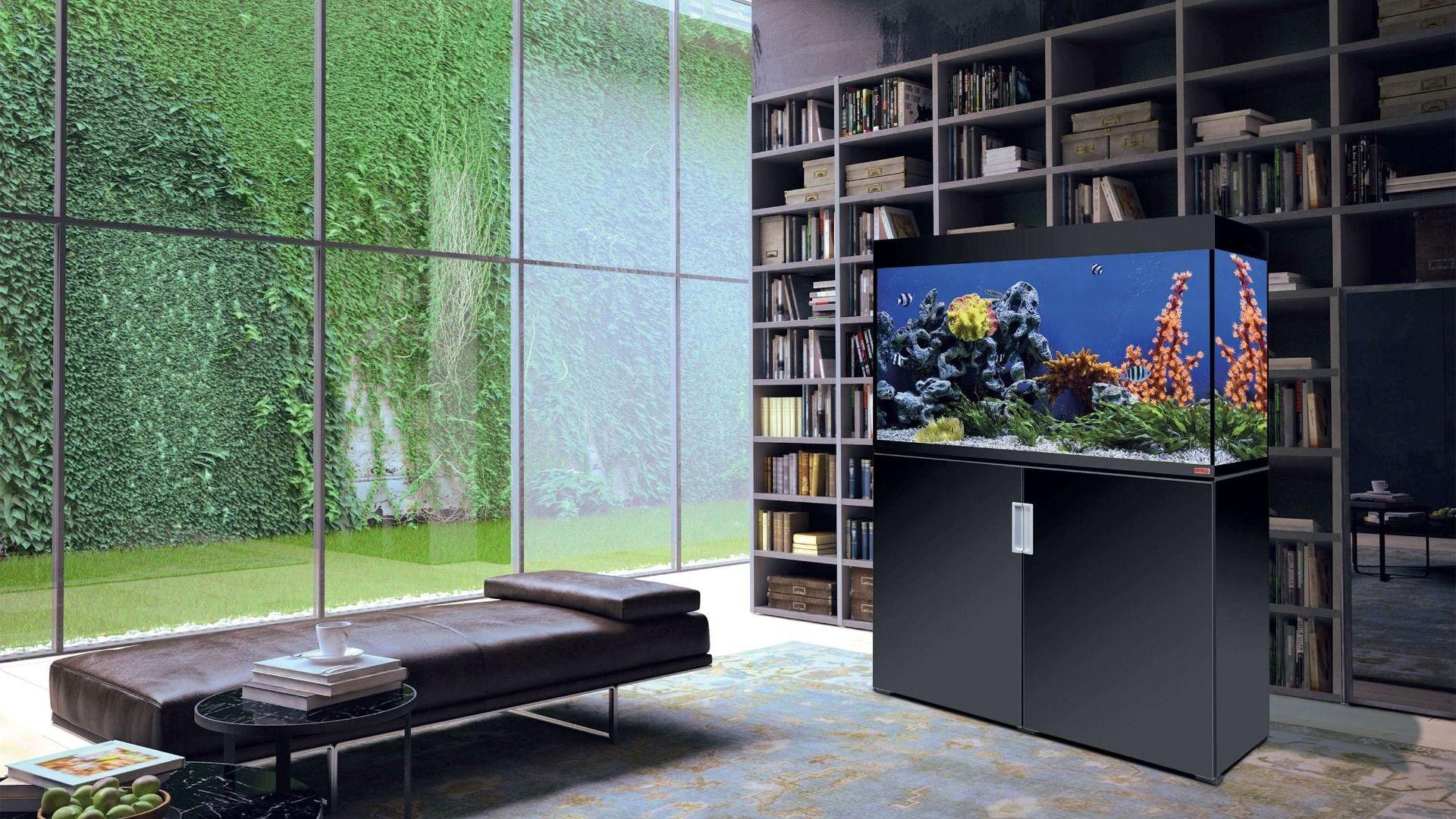 meuble aquarium eau de mer