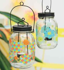 lanternes fleuries