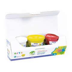 Coffret 6 pots de gouache x 100ml, couleurs assorties