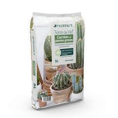 Terreau 'Terre de Vie®' pour cactées et succulentes - sac de 5 litres