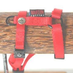 Harnais réglable pour chiens, en nylon, rouge 16/35-50
