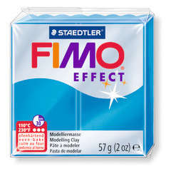 Pâte Fimo Effect, 57g - Translucide, bleu