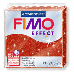 Pâte Fimo Effect, 57g - Pailleté, rouge