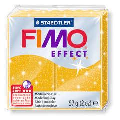 Pâte Fimo Effect, 57g - Pailleté, or