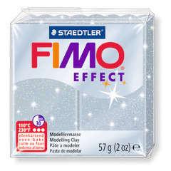 Pâte Fimo Effect, 57g - Pailleté, argent