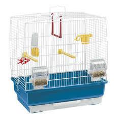 Cage Rekord 2 pour oiseaux exotiques : Bleu Hauteur 41cm