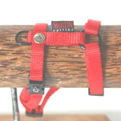 Harnais réglable pour chiens en nylon rouge 10/25-35