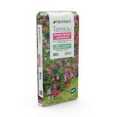 Terreau pour plantes fleuries et géraniums - sac de 50 litres