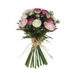 Bouquet de renoncules, rose 30 cm