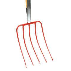 Fourche à compost: Tête acier 5 dents L.22xl.20cm mche bois l.130cm
