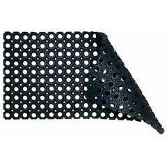 Grattoir caillebotis domino caoutchouc noir 100x50 cms.epaisseur 22mm