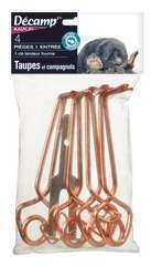 Pièges à taupes avec tendeur lot de 4 pièges