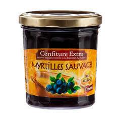 Confiture au miel, le pot de 375g - Myrtille