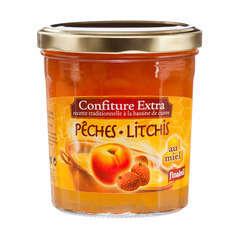 Confiture au miel, le pot de 375g - Pêches/litchis