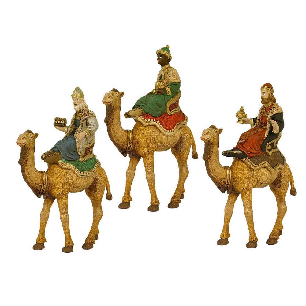 Figurine : 3 Rois mages à chameaux 8 cm | Truffaut
