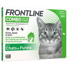 Pipette antiparasitaire chat frontline© combo x3