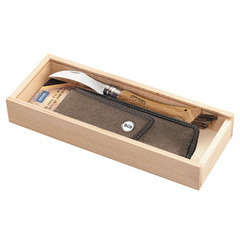 Couteau à Champignon n°08, lame inox, manche en chêne,