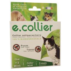 Collier antiparasitaire chat essentiel noir 35cm