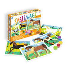 Kit de sablimage tableau: chevaux