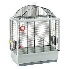 Cage Palladio 4 pour oiseaux exotiques : Hauteur 75 cm Beige et vert