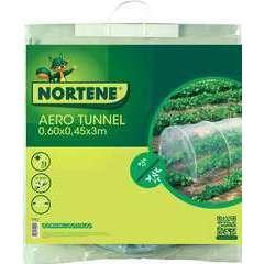 Tunnel en accordéon avec film perforé Transparent  0,60X0,45X3M