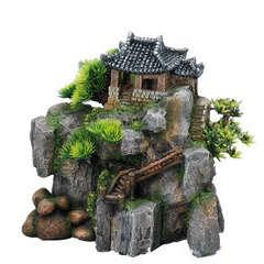 Décoration d'aquarium Cottage SM : L23,5xl14xH23 cm