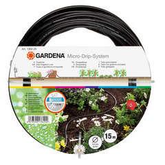 Tuyau à goutteurs incorporés de surface Gardena : 4,6mm