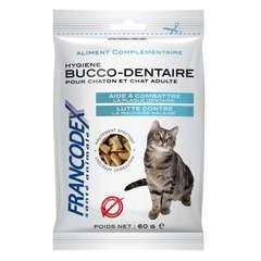 Friandises hygiène bucco-dentaire pour chaton et chat adulte : 60gr