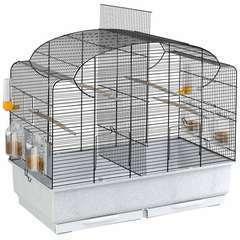 Cage à oiseaux avec séparateur 'Canto' - 71  x 38 x 60,5 cm