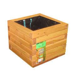 Bac carré en bois de mélèze certifié FSC® L. 50 x l. 50 x H. 50 cm