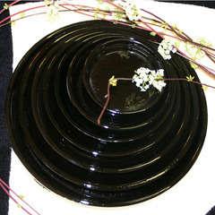 Soucoupe en terre cuite émaillée, coloris Métal Ø 23 cm