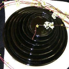 Soucoupe en terre cuite émaillée, coloris Métal Ø 42 cm