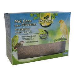 Nid fibre de coco oiseaux, naturel L 65xl35xh48