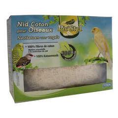 Nid fibre de coton oiseaux, naturel L65xl35xh48