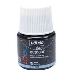 Peinture acrylique extérieure P.Bo deco, 45 ml - Noir