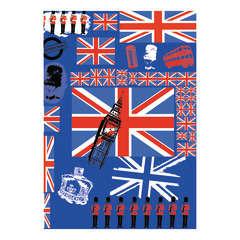 Feuille Décopatch 530 - Bleu thème Royaume-Uni
