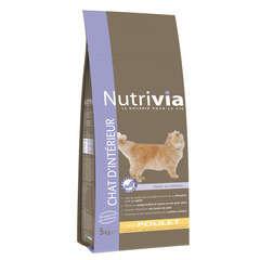 Croquettes chat d'intérieur Nutrivia : 5 kg