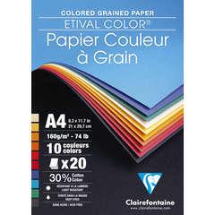 Bloc dessin couleur à grain de 20 feuilles (160g) 21x29,7 cm