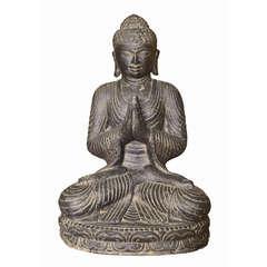 Statue bouddha assis H. 45 cm